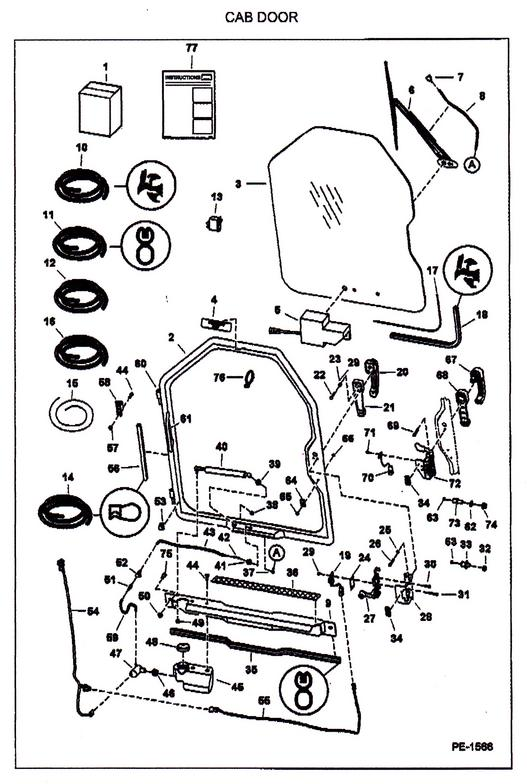 Bobcat Door Parts  U0026 Bobcat 6715157 Rear Back Door Striker